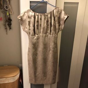 ANNE KLEIN NY METALLIC PATTERN DRESS